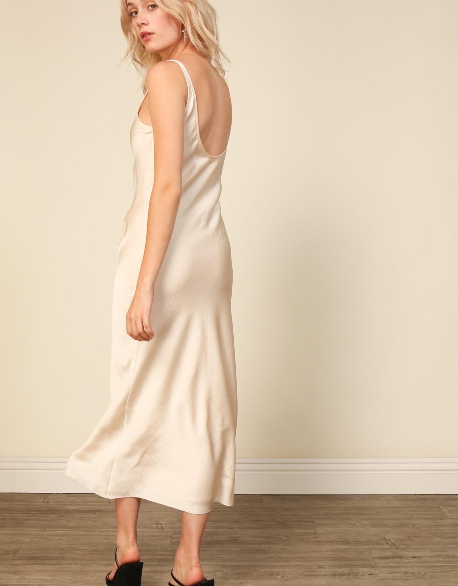 Line and Dot Loulou Satin Dress