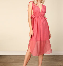 Line and Dot Floresta Dress with Side Ties