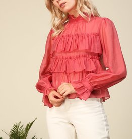Line and Dot Floresta Ruffle Tier Top