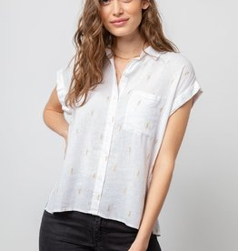 Rails Whitney printed short sleeve button up