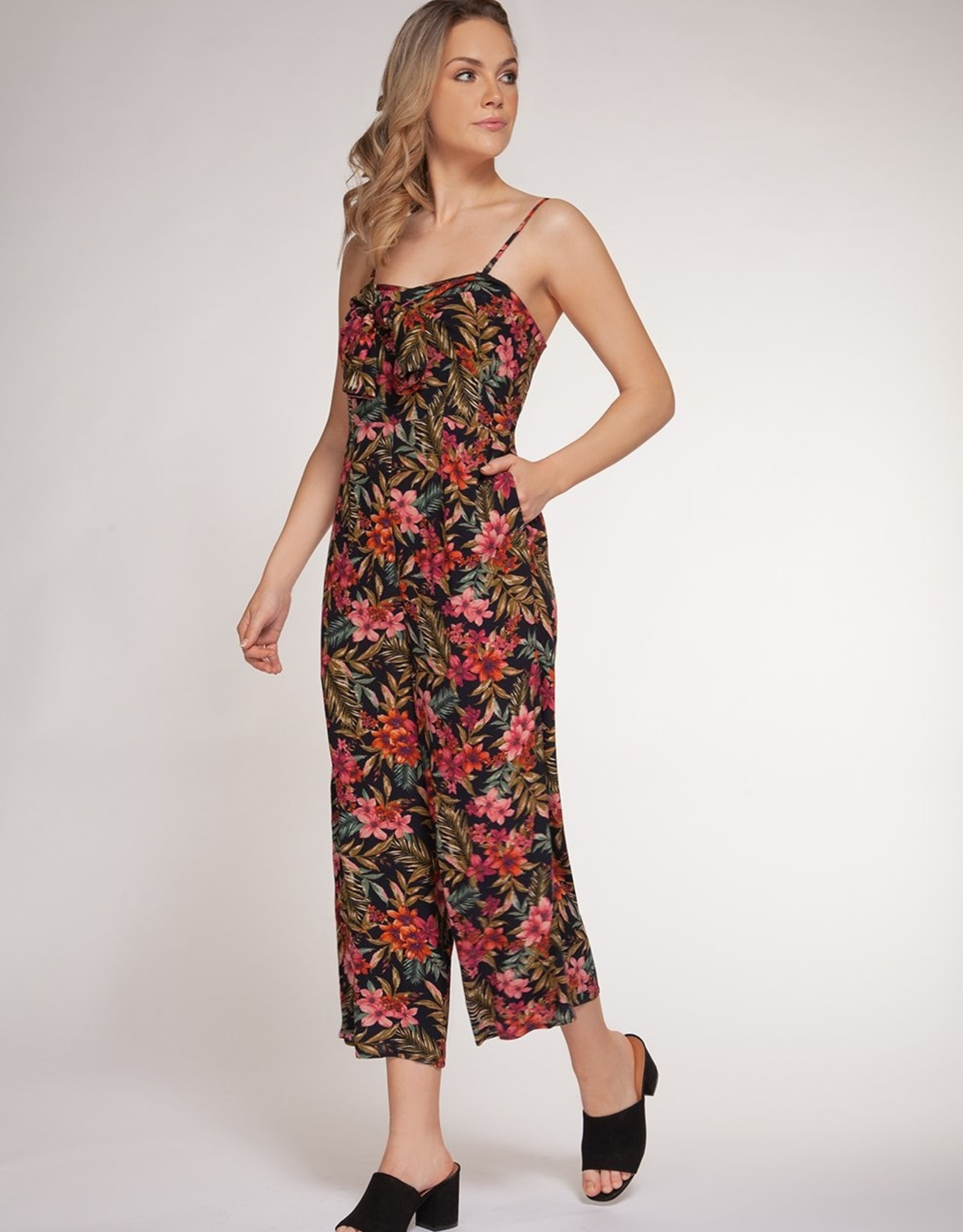 Dex Bros Clothing Co Ltd. Floral Tie Front Jumpsuit