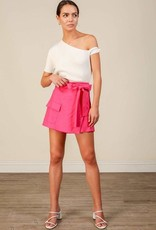 Line and Dot Kinn Wrap Front Shorts