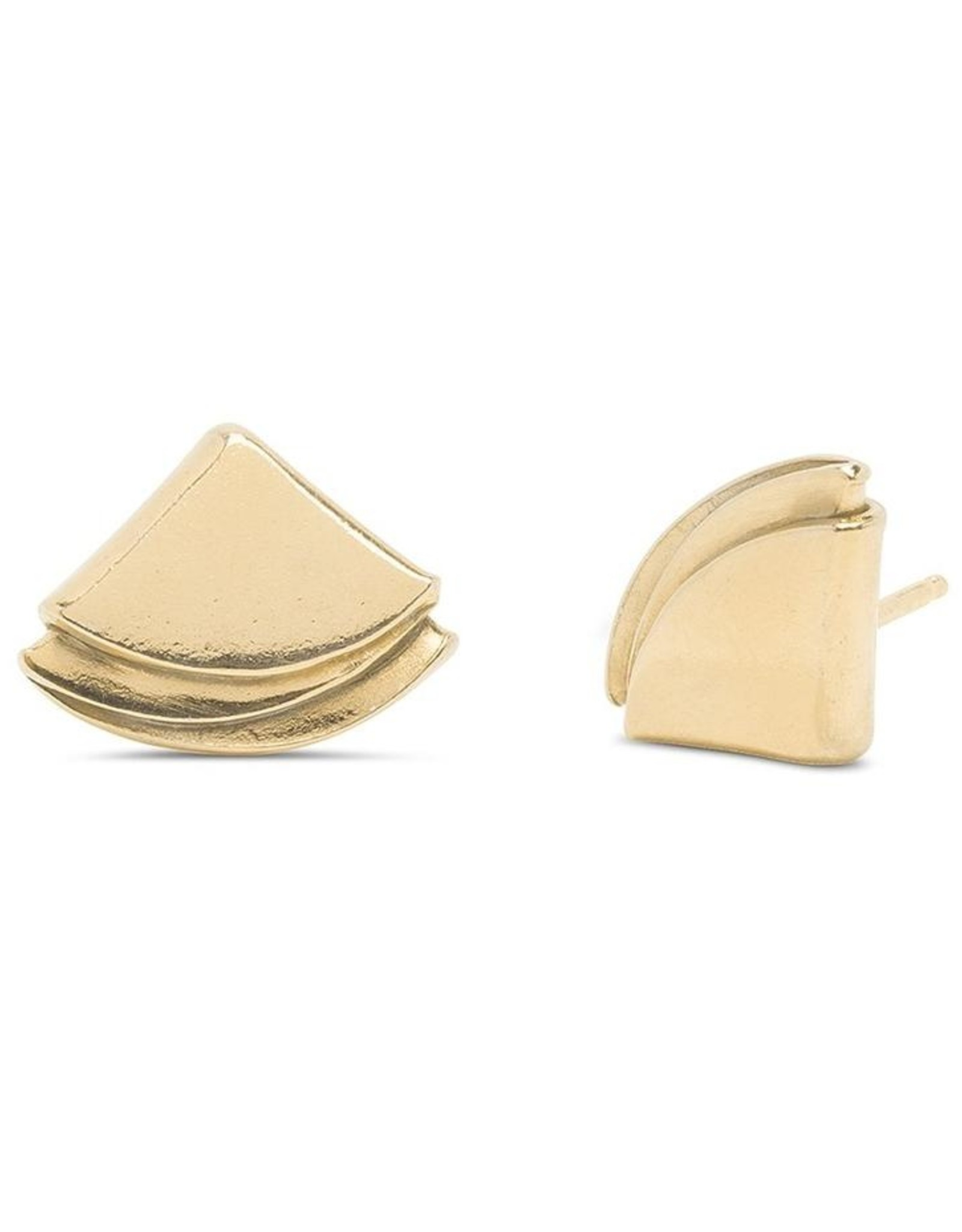 Kara Yoo Quarter Folded Studs