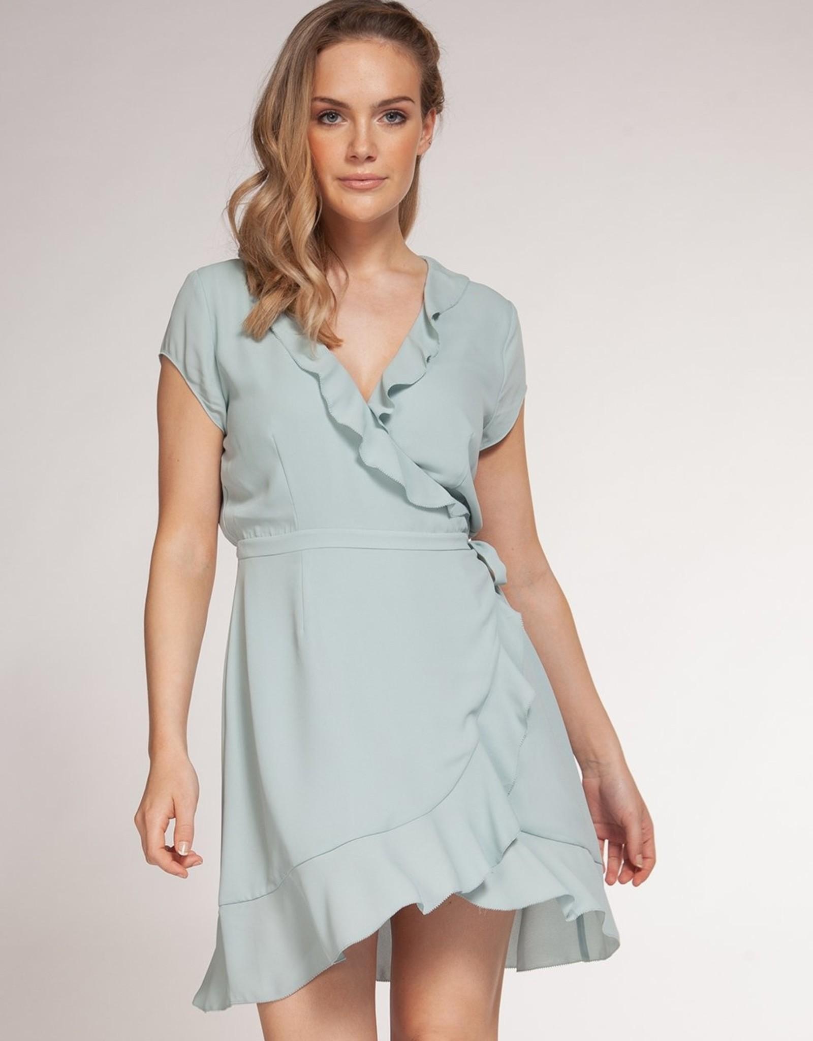 Dex Bros Clothing Co Ltd. Ruffle Wrap Dress