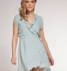 Dex Bros Clothing Co Ltd. Ruffle Wrap Dress