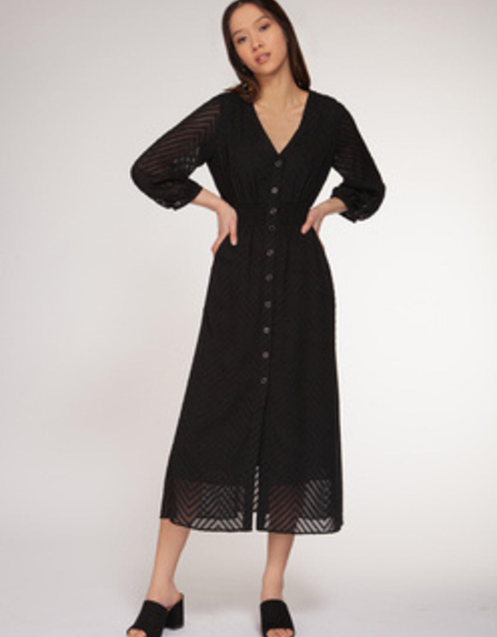 Dex Bros Clothing Co Ltd. Smoked Waist Buttion Down Dress