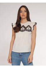Dex Bros Clothing Co Ltd. Crochet Detail Short Sleeve Top