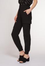 Dex Bros Clothing Co Ltd. High waist cargo trouser, black
