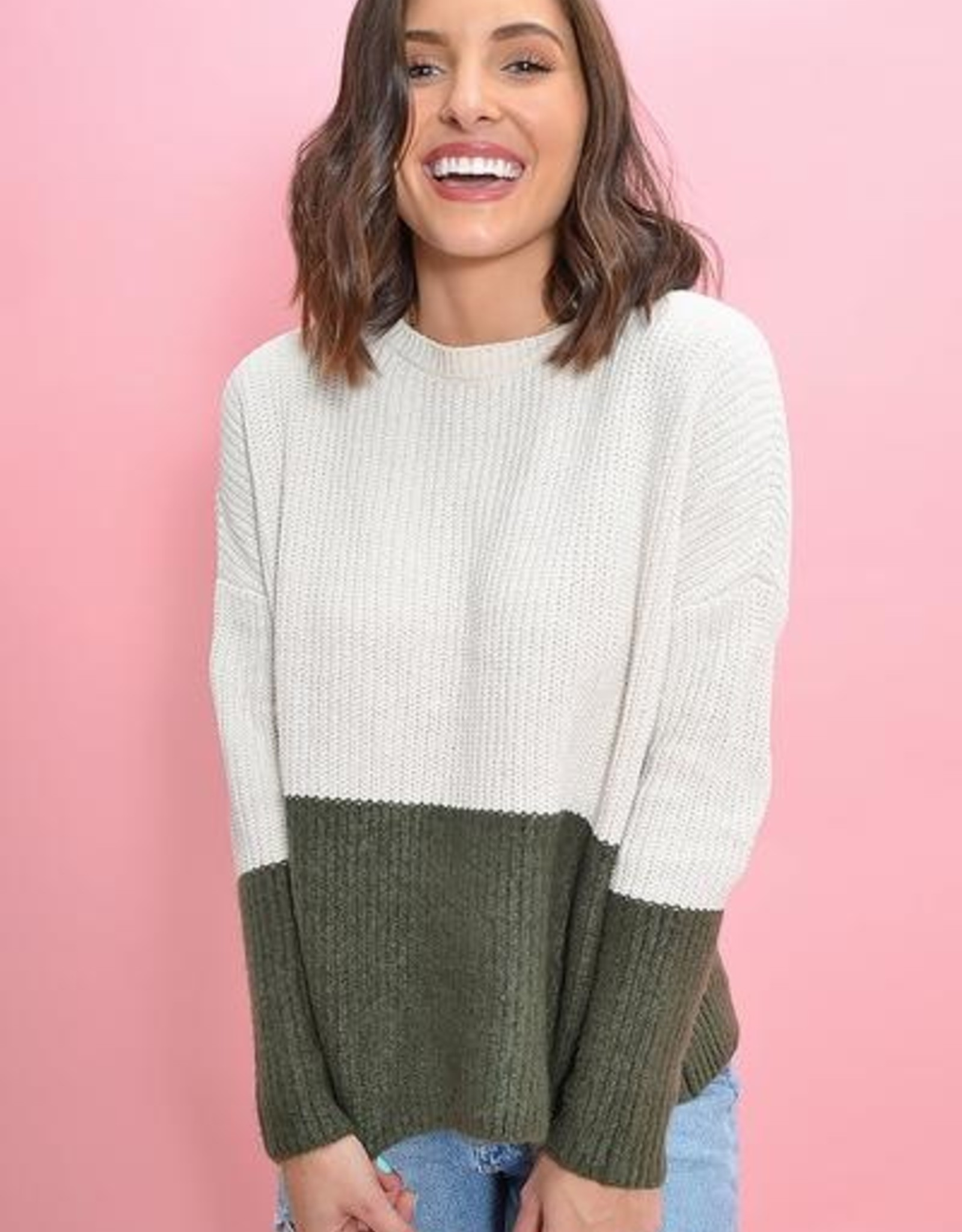 BB Dakota New Knit On The Block Sweater