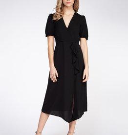 Dex Short Sleeve Frill Midi Dress