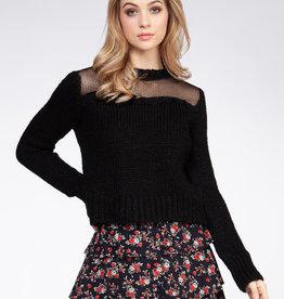 Long Sleeve Mesh Sweater