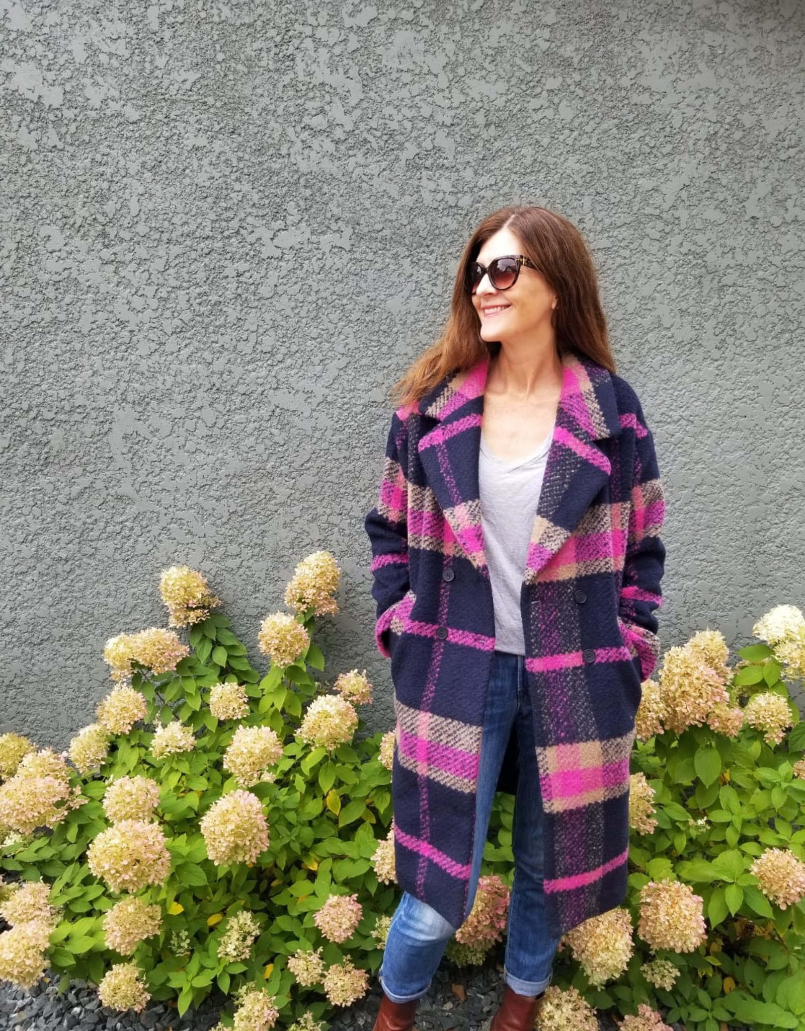 Frnch Sofia Plaid Coat
