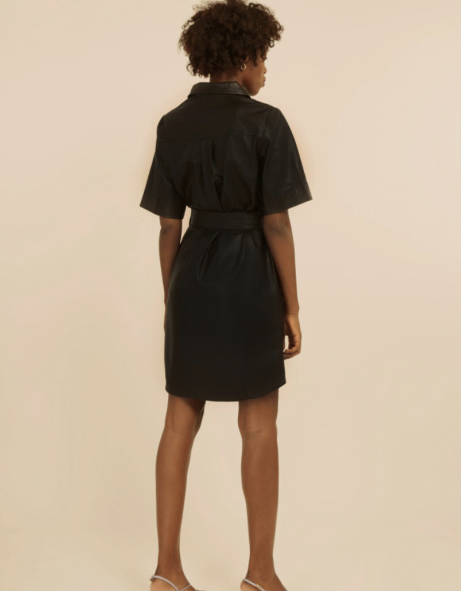 Frnch Adelma Faux Leather Dress
