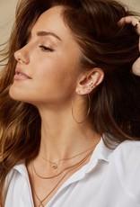 Able Minka Thin Hoop Earring