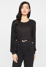 Sanctuary All Out Pleated Long Sleeve Tee