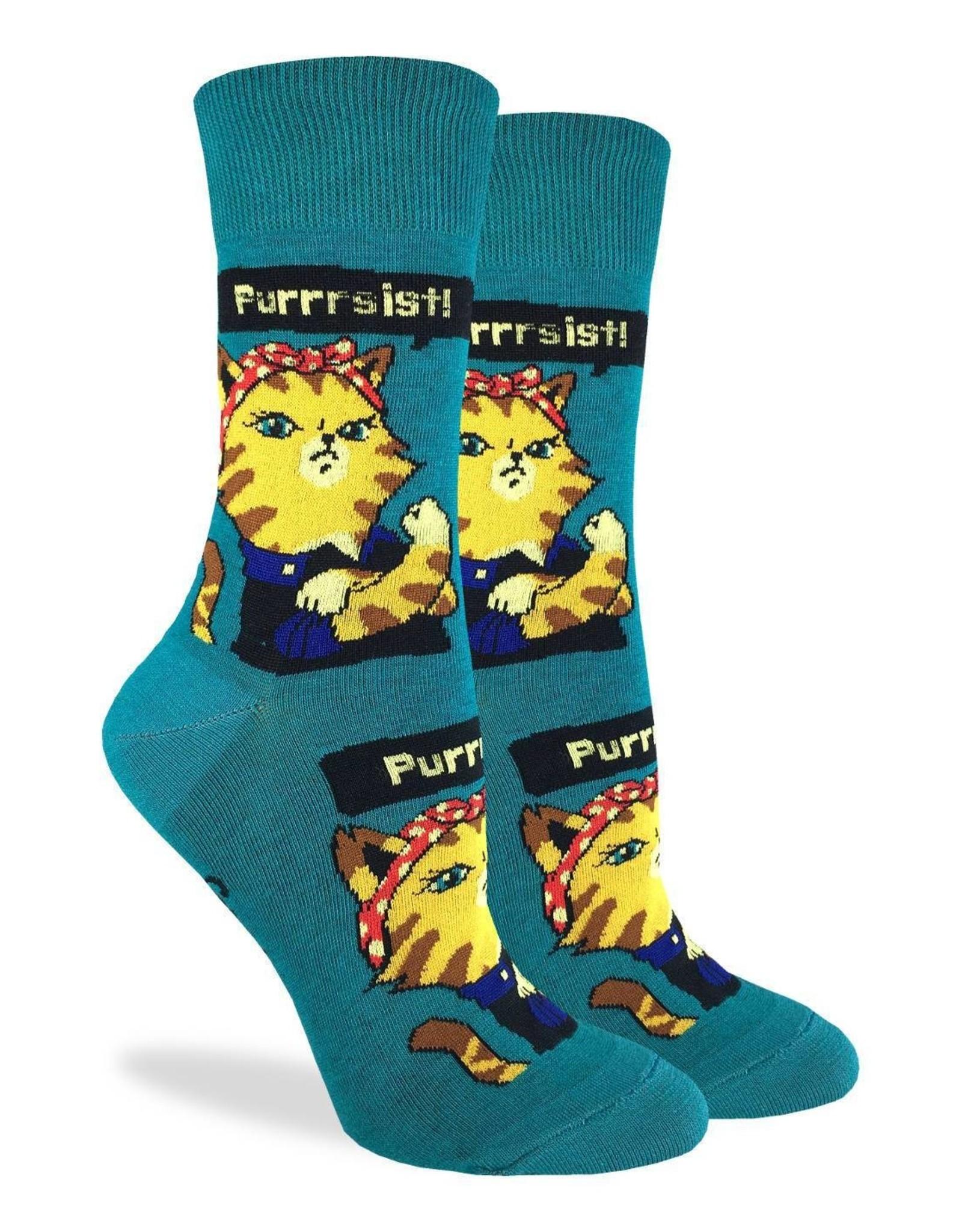 Good Luck Sock Women's Purrsist Cat Socks