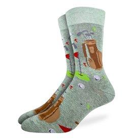 Good Luck Sock Men's Golf Green Socks