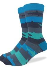 Good Luck Sock Aqua Shark Week Socks
