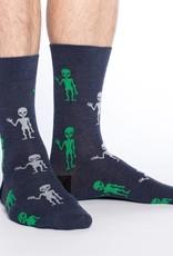 Good Luck Sock Men's Aliens Socks