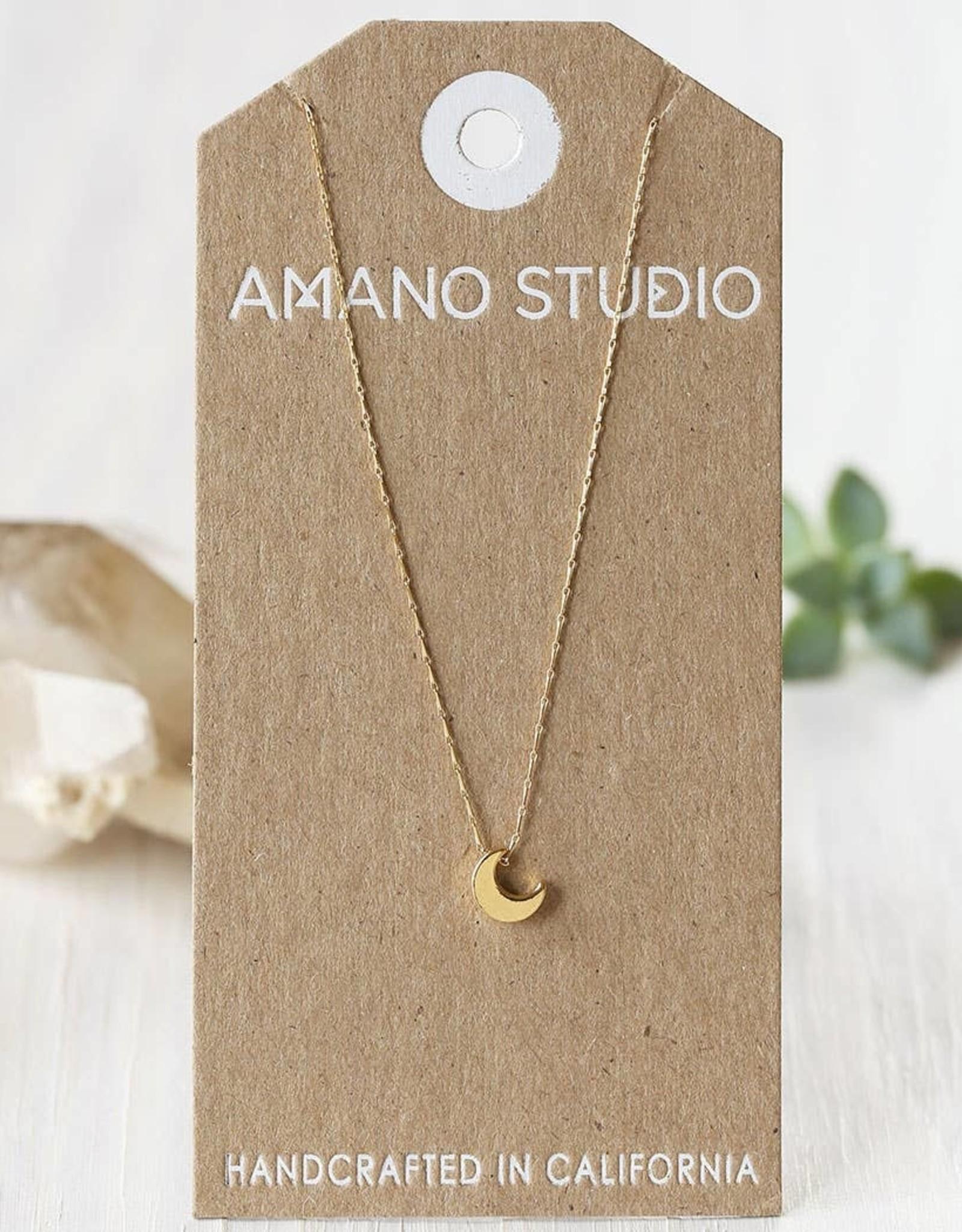 Faire Tiny Crescent Moon Necklace