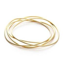 Faire Gold Wave Bangle Set