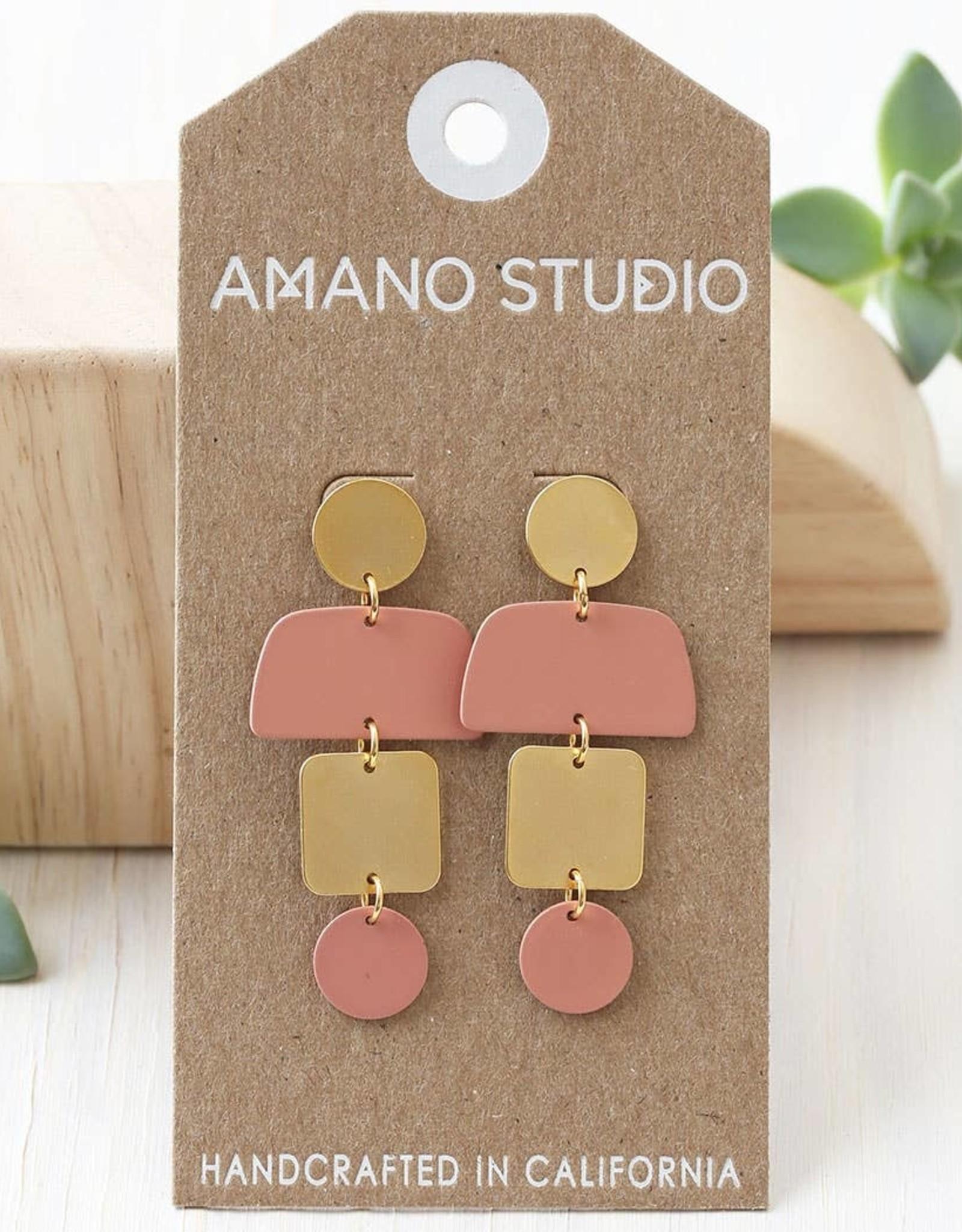 Faire Geometric Stack Earrings