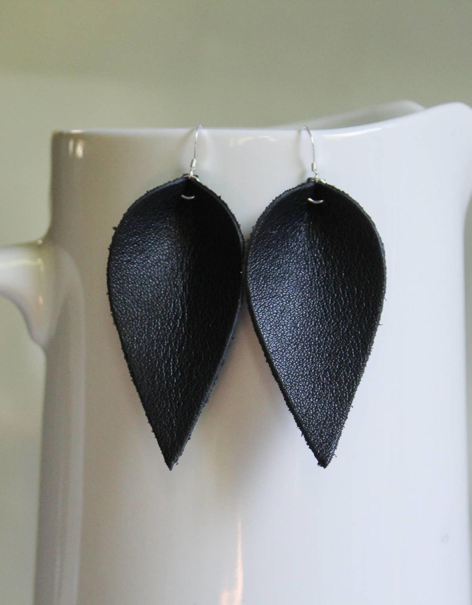 Leaf Leather Earrings