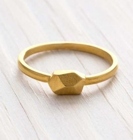 Faire Faceted Nugget Ring