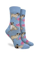 Good Luck Sock Men's Pugs and Donuts Socks