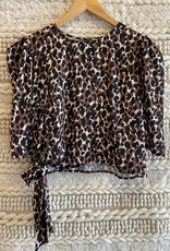 Sadie & Sage Animalia BLouse Black Multi