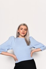 Pale Blue Knitted Sweater