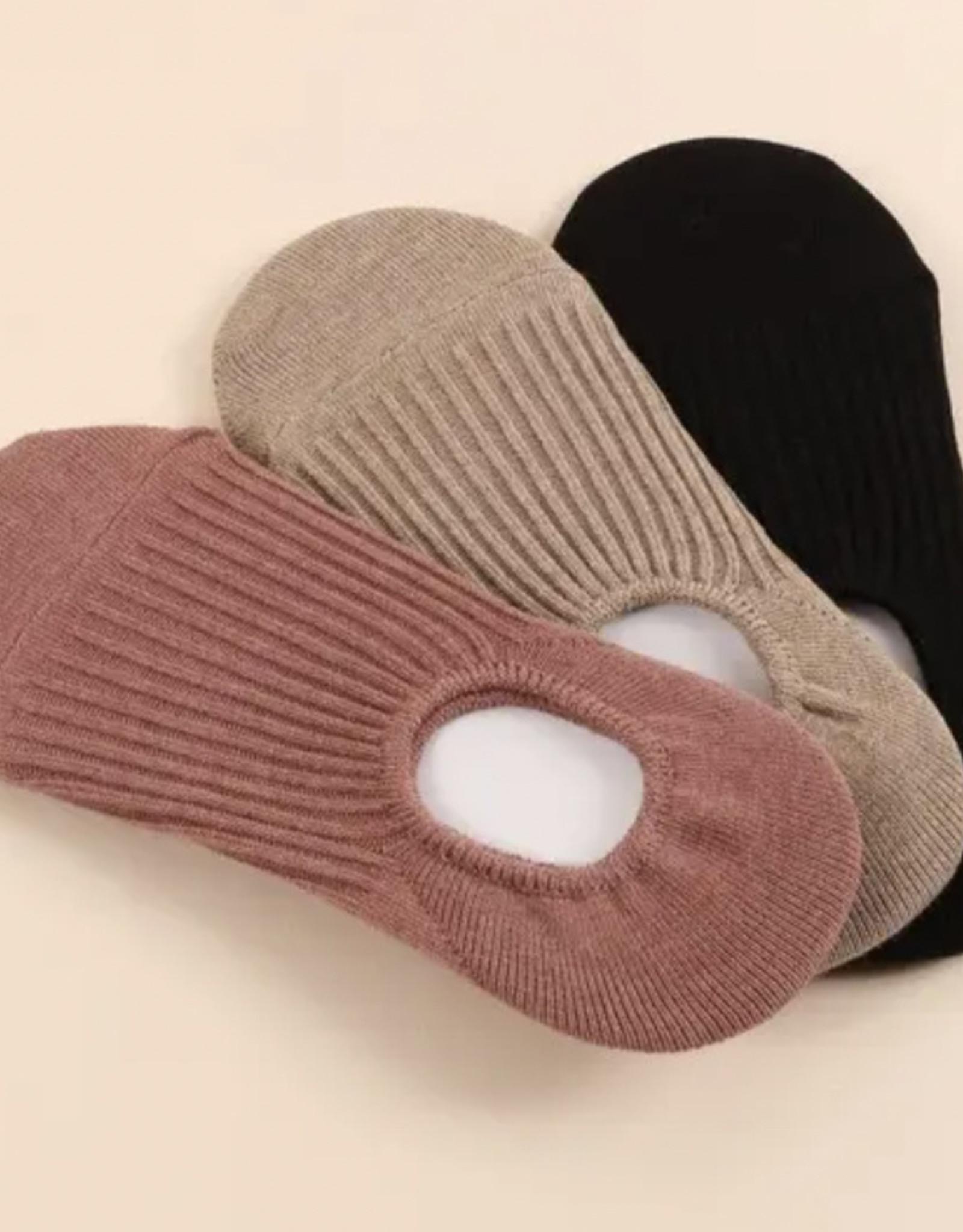 3 Pair Assorted Pack Ribbed Crew Socks