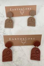 Earth & Lore Embossed Mountain Earrings