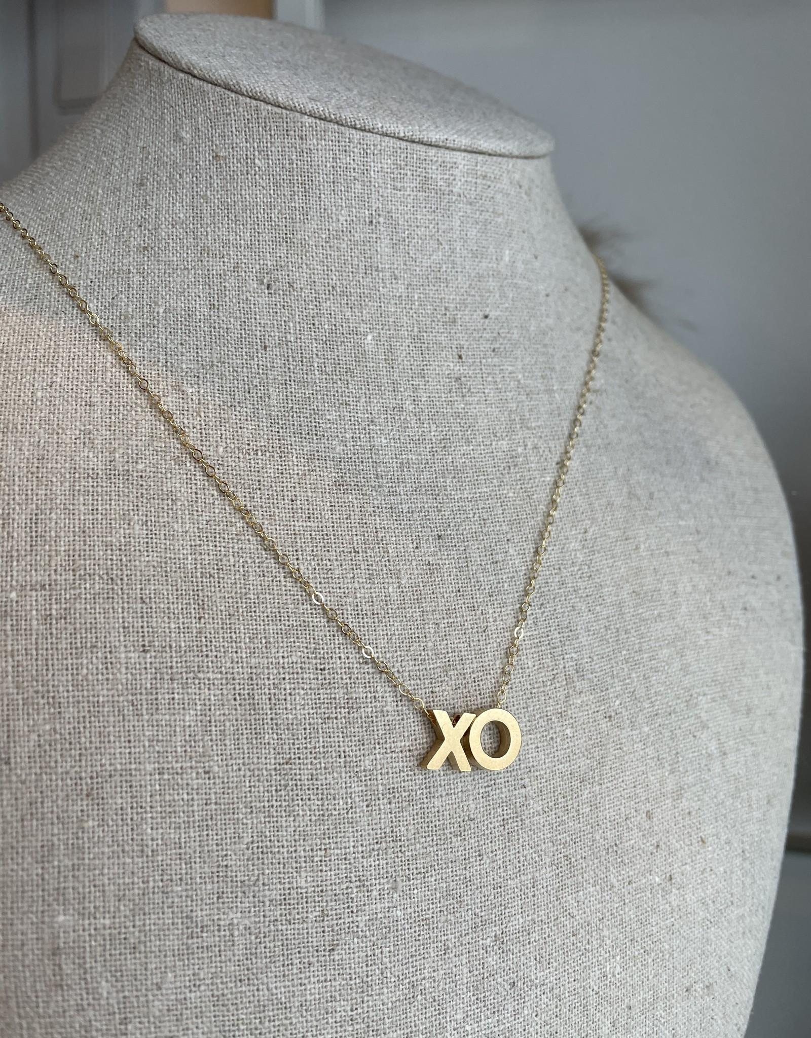Able XO Letter Charm Necklace