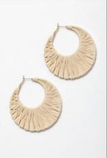 Bamboo Raffi Hoop Earrings