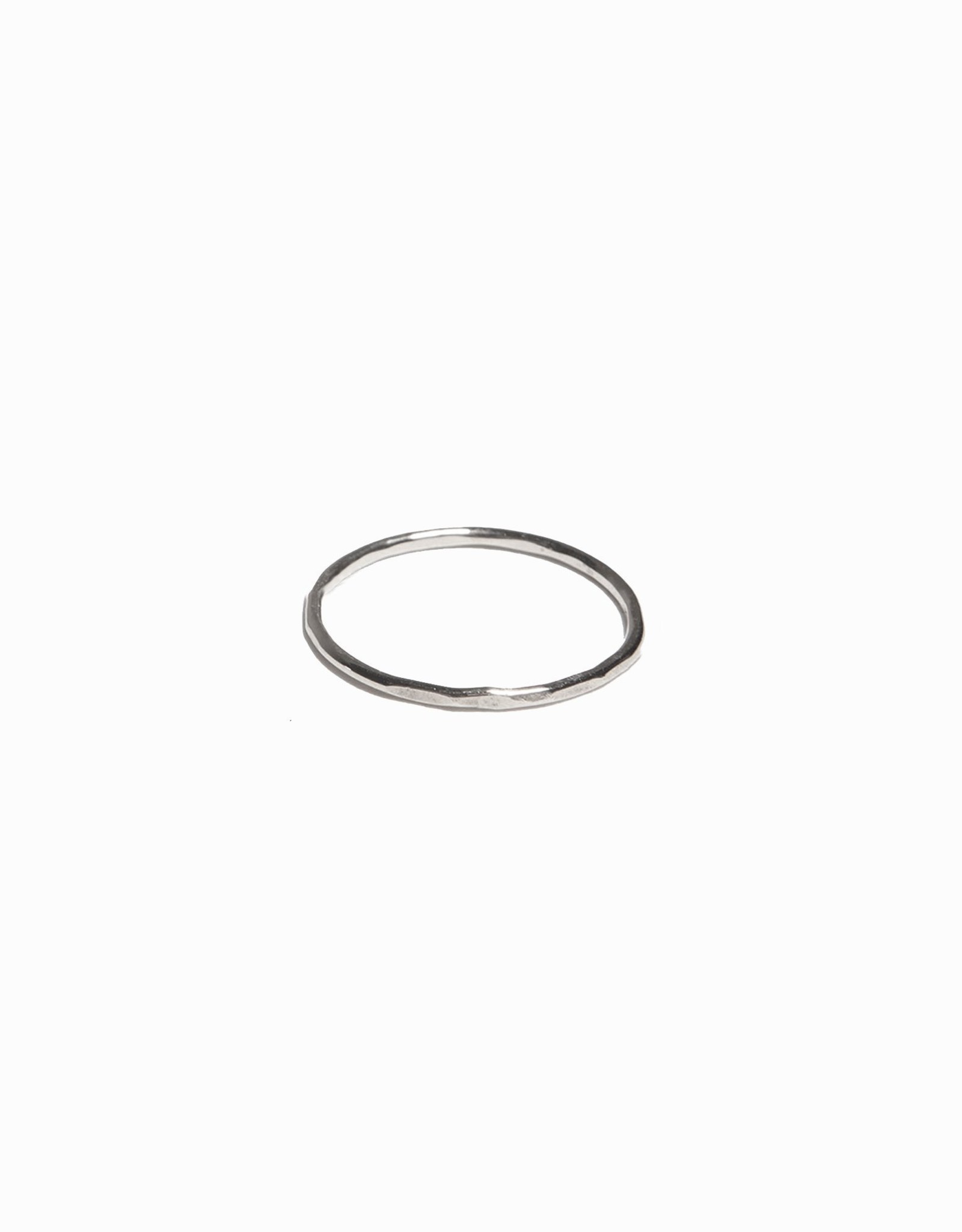 Able Hammered Stacking Thin Ring