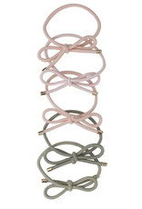 Kitsch Bow Hair Ties, pack of 5