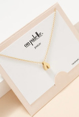Zoe Wish Bone Pendant Necklace