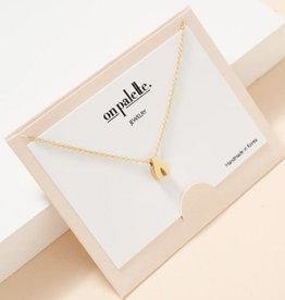 Zoe Wish Bone Pendant Necklace