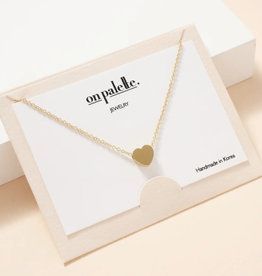 Zoe Heart Pendant Short Necklace