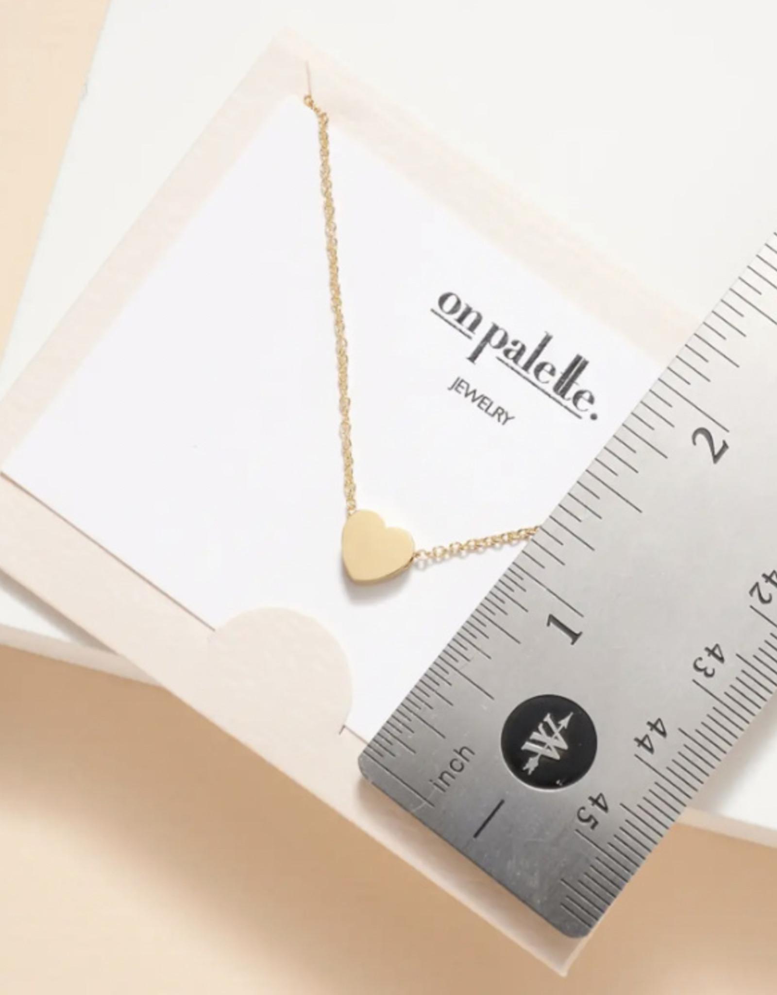 Zoe Heart Pendant Short Necklace