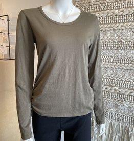 Bobi Long Sleeve Side Shirred Top