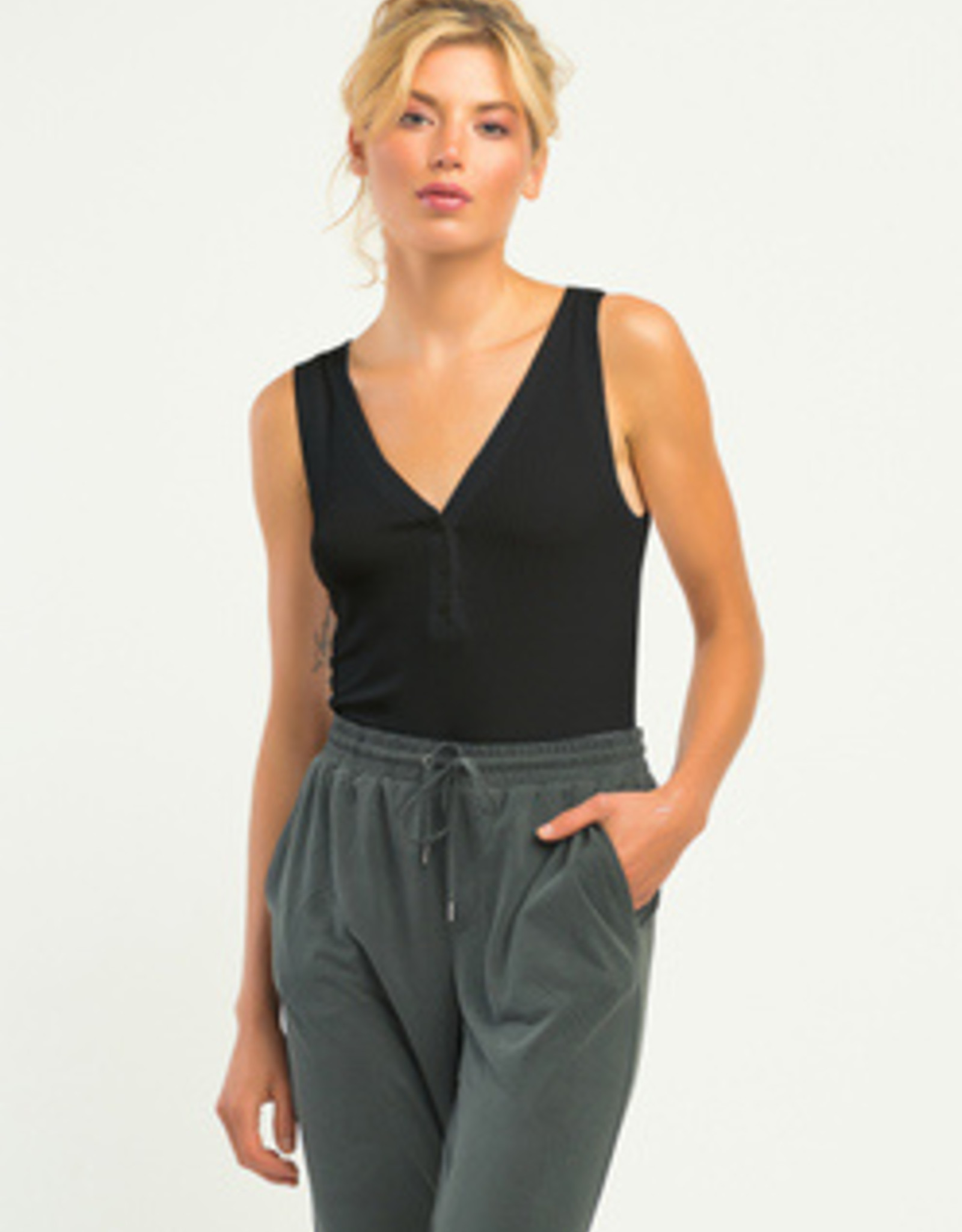 Dex Sleeveless  Ribbed Bodysuit