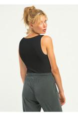 Sleeveless  Ribbed Bodysuit