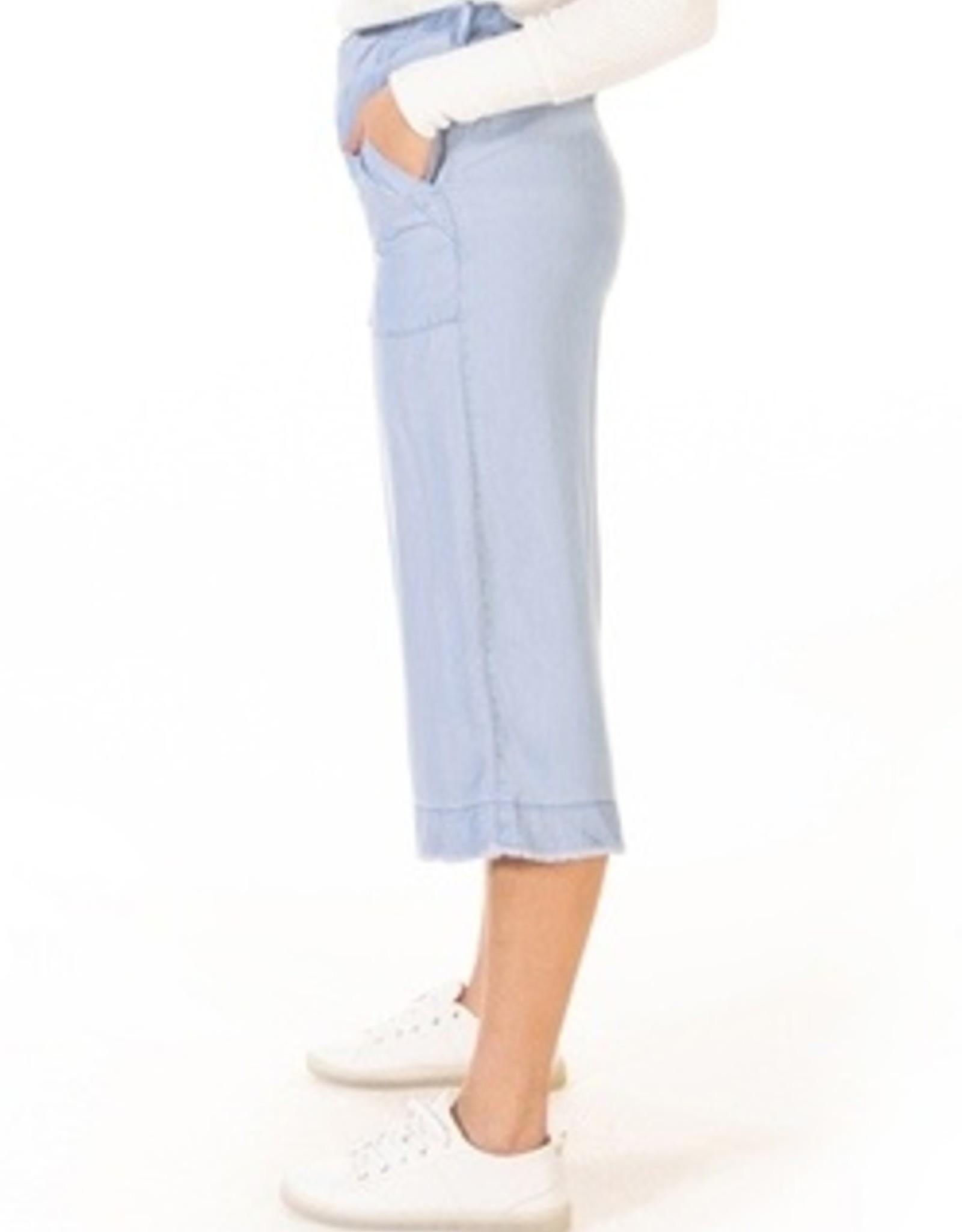 Dex Frayed Hem Wide Leg Pant
