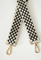 Shoulder Strap Black & Cream Dot