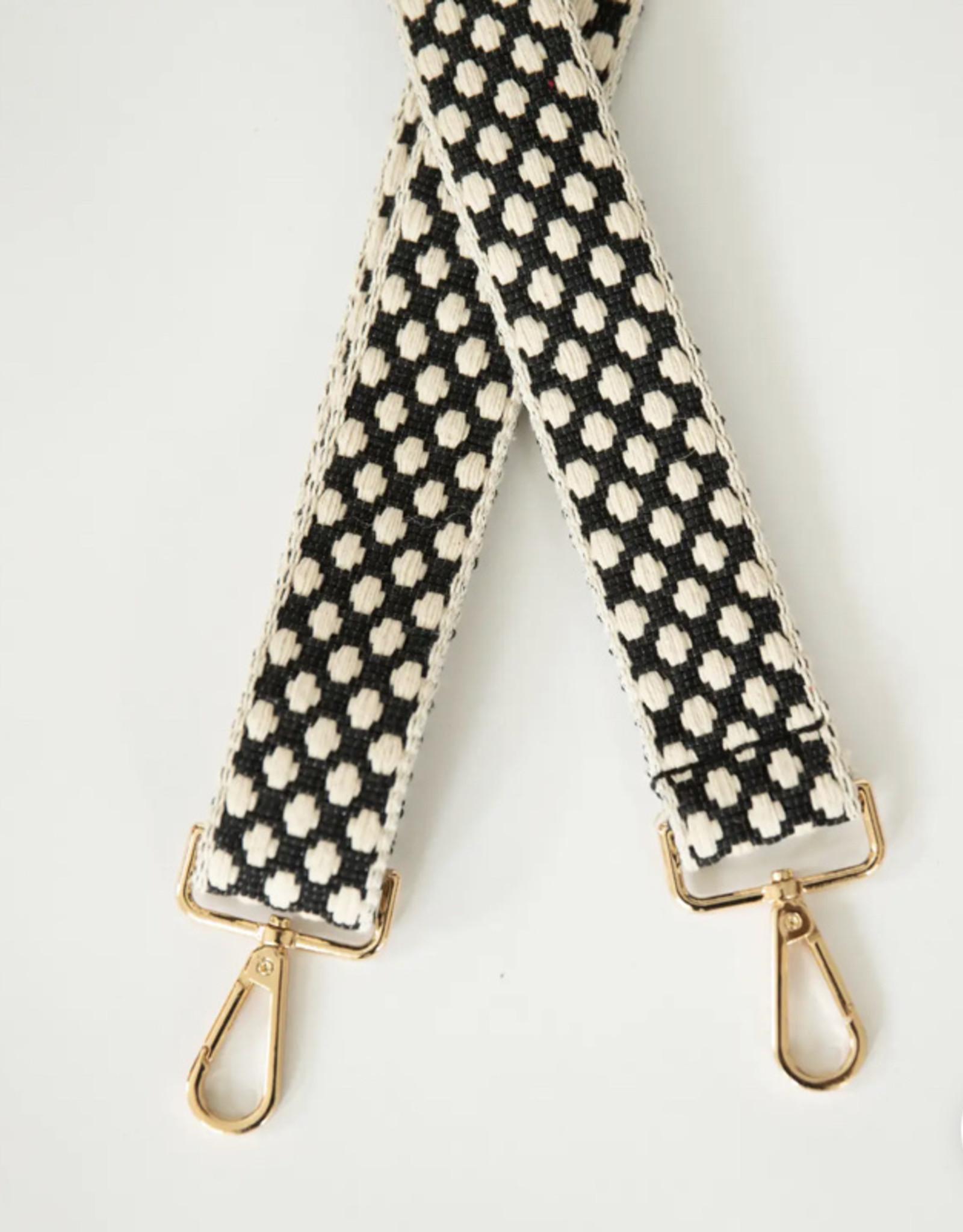 Funky Monkey Fashion Shoulder Strap Black & Cream Dot