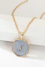 Faire Blue Lightning Necklace