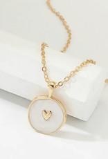 Faire White Gold Heart Necklace