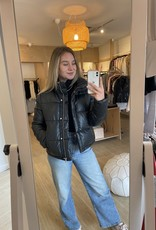 Farrah Faux Leather Puffer